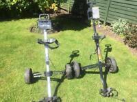 Two golf trolleys