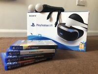 Playstation VR / PSVR / with Camera, Move Controllers, and Games