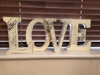 Large decorative letters