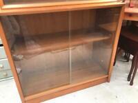 Retro glazed bookcase FREE DELIVERY PLYMOUTH AREA