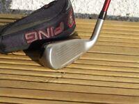 Ping G15 20 Degree Hybrid/Rescue Club. Standard length. Stiff Flex Ping graphite shaft.