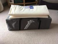 Hauck travel cot with folding mattress
