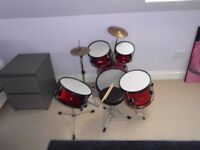 Stagg junior drumkit 5 piece used quality kit RRP £236