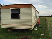Static caravan perect for self build