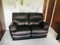 Great condition lazy leather sofa