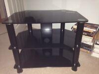 Glass TV stand (black)