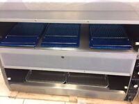 Hot Display Cabinet Compact Chicken Heated Display Double Deck like Henny Penny HCW