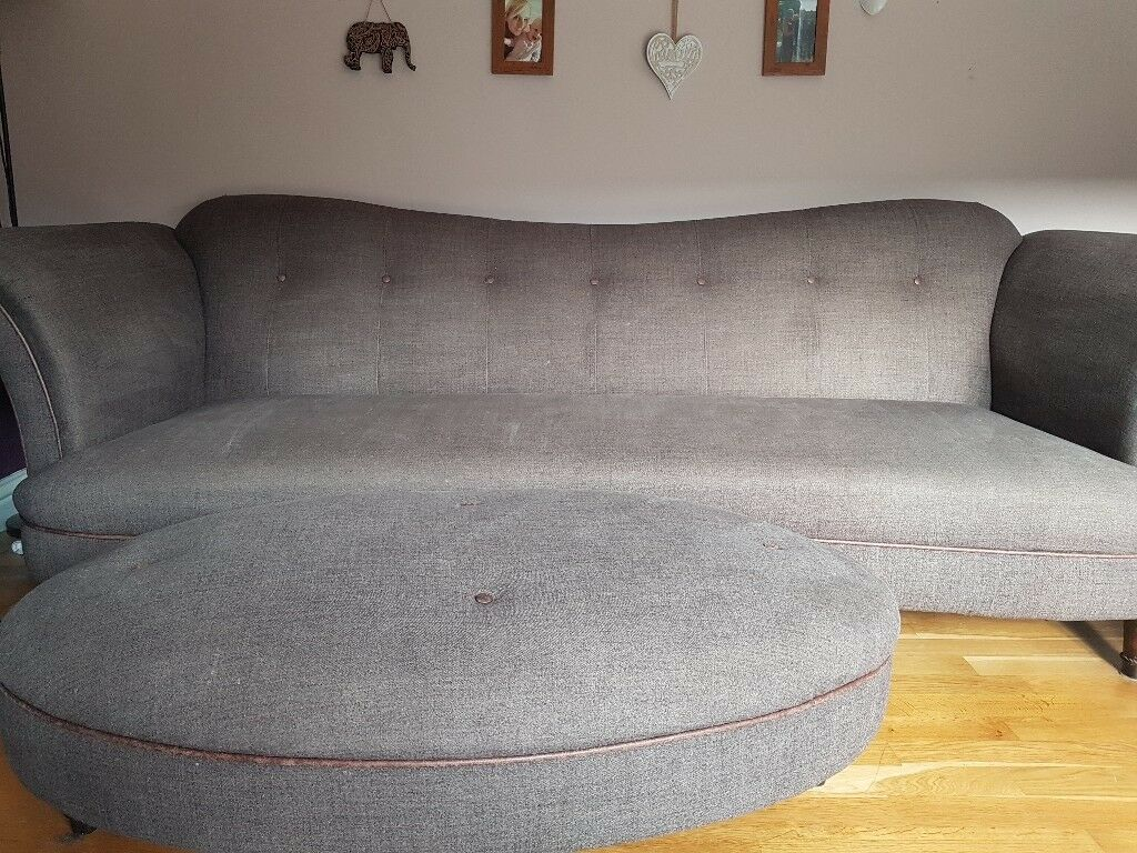 Dfs 4 Seater Sofa Cuddle Chair And Footstool In