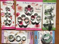 Cake Decorating: Sugar paste moulds, tools, cutters, wires and book