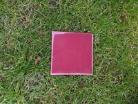 Burgundy gloss tiles 10cm x 10cm