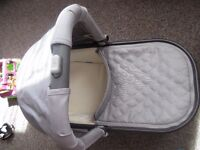 Uppababy Vista Cruz 2015 model carry cot Pascal grey colour with rain cover