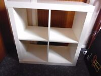 Two White IKEA Kallex cube storage units VCG Collect only Ipswich Area.