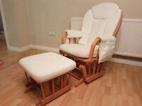 Mamas & Papas gliding nursing chair and footstool