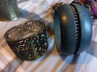 Bundle of ladies bracelets, various designs and sizes