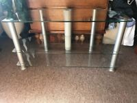 Glass TV Stand - perfect for storage and holding TVs up to ~45 inches