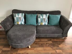 Grey dfs couch mint condition 4 + 2 + cuddle chair