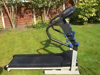 NewFitness ES01 Folding Motorised Treadmill Running Machine With Weights