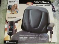 HOMEDICS VIBRABACK MASSAGE CUSHION WITH HEAT (Brand New & Boxed)