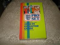 (1-box pro set,sceller et neuf)1990-91 soccer cards uk (rare)