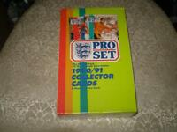 (box pro set,sceller et neuf)1990-91 soccer cards uk(tres rare)