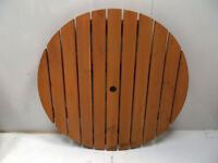 Round Wooden Table Face