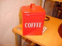 Coffee Tin Storage Jar