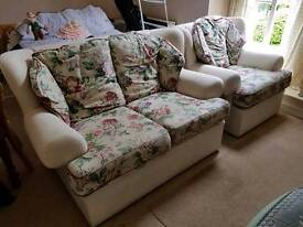2 seater sofa with 2 arm chairs