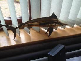 Marlin / Swordfish in Brass Finish.