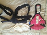VERY GOOD CONDITION - BABY BJORN BABY CARRIER IN NAVY AND PINK