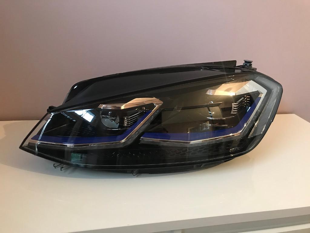 Genuine VW Golf MK7.5 Facelift GTD/GTE/GTI/R Full LED Xenon Passengers Headlight 2017-