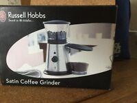 Russell Hobbs satin coffee grinder