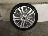 ALLOYS X 5 OF 20 INCH GENUINE RANGEROVER HSE OR DISCOVERY FULLY POWDERCOATED IN A STUNNING SILVER