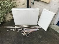Scrap Metal - old radiators and copper pipes! £10 - collection only