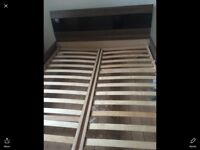 Solid double bed frame
