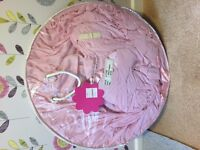 Pink childs bed canopy