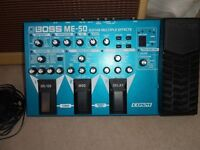 boss me50 guitar efects pedal