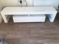 Stunning modern white high gloss tv stand