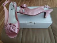 Dusky pink satin shoes