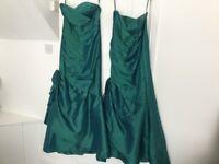 2 Jade Green Bridesmaid/Gala day Dresses