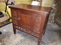 Hand Carved Indonesian Cabinet