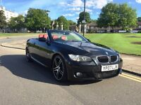07 PLATE BMW 325I AUTO CONVERTIBLE RED LEATHER E92 E93 M SPORT KIT HISTORY HEATED SEATS AUTOMATIC