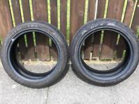 2x 225/45 r17 tyres