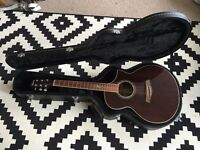 Ibanez EW20WNE electro acoustic guitar with hard case