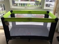 iSafe Rest & Play Luxury Travel Cot/Playpen with mattress