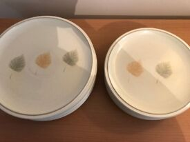 DENBY ENERGY LEAF DINNER PLATES, AS NEW, ONLY USED A FEW TIMES