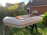 Inflatable dinghy, boat, 2.30M wetline with 4hp outboard