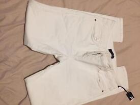 White size 12 skinny jeans