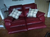 2 real leather recliners