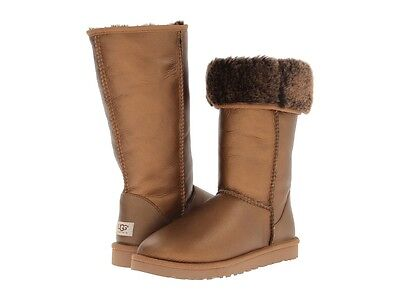 Womens UGG classic TALL Metallic BOOTS brown GOLD bronze     US 9 10 or 11
