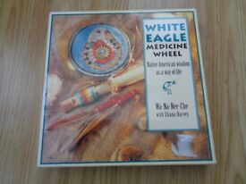 'White Eagle Medicine Wheel' cards and book (New and unused in original box)